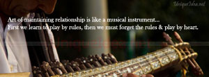 Relationship is like a musical instrument