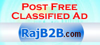 Post Free Classified Ad at India's leading Classified Web - Rajb2b