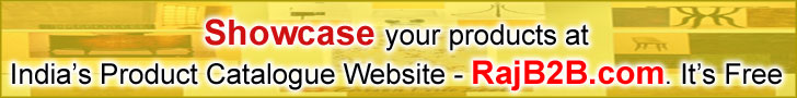 Showcase your products at India's Product Catalotue Website - Rajb2b.com