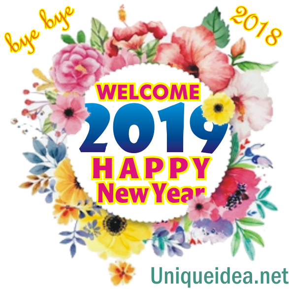 floral welcome happy new year 2019