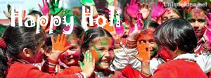 cute Schoolgirl Colourful face cover for holi