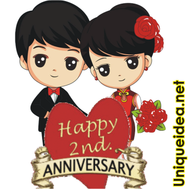 Whatsapp sticker Happy Anniversary lovely couple